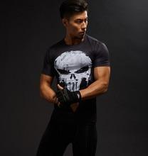 Hot Sale 3D Printed  Comics Punisher Skull T-shirt Men Summer Fashion Short Sleeve Tshirt  Compression Men T Shirt Tops&Tees