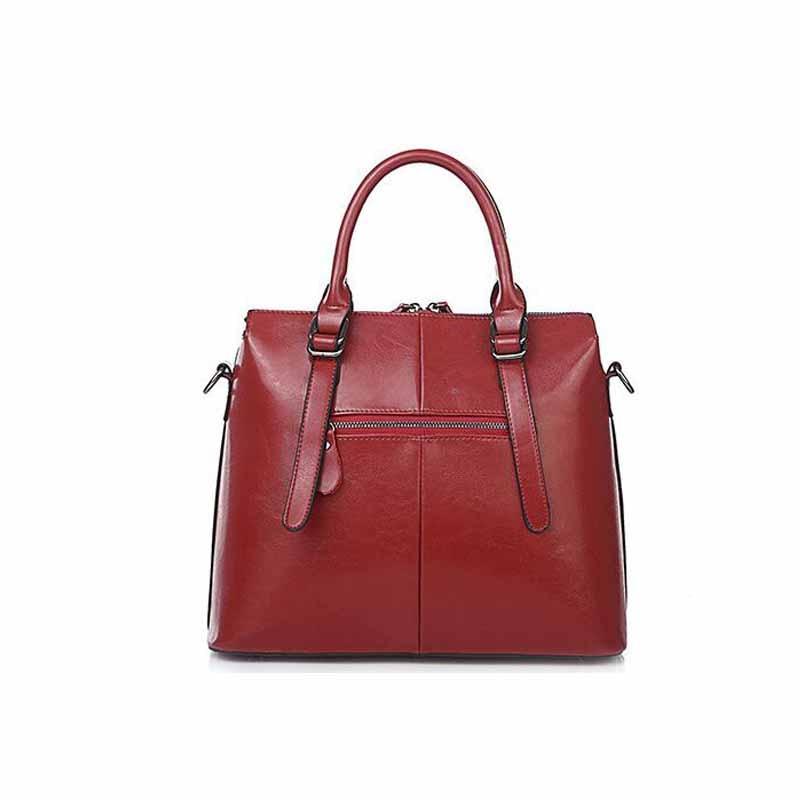 새로운 패션 여성 분할 가죽 핸드백 숙녀 어깨 가방 여성 메신저 가방-에서숄더 백부터 수화물 & 가방 의  그룹 2
