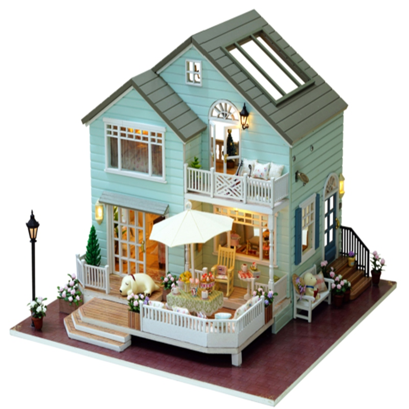 CuteRoom Handmake A-035-A Queens Town DIY Dollhouse Room Miniature Model With Light Music Collection Gift cuteroom 1 32dollhouse miniature diy kit with cover