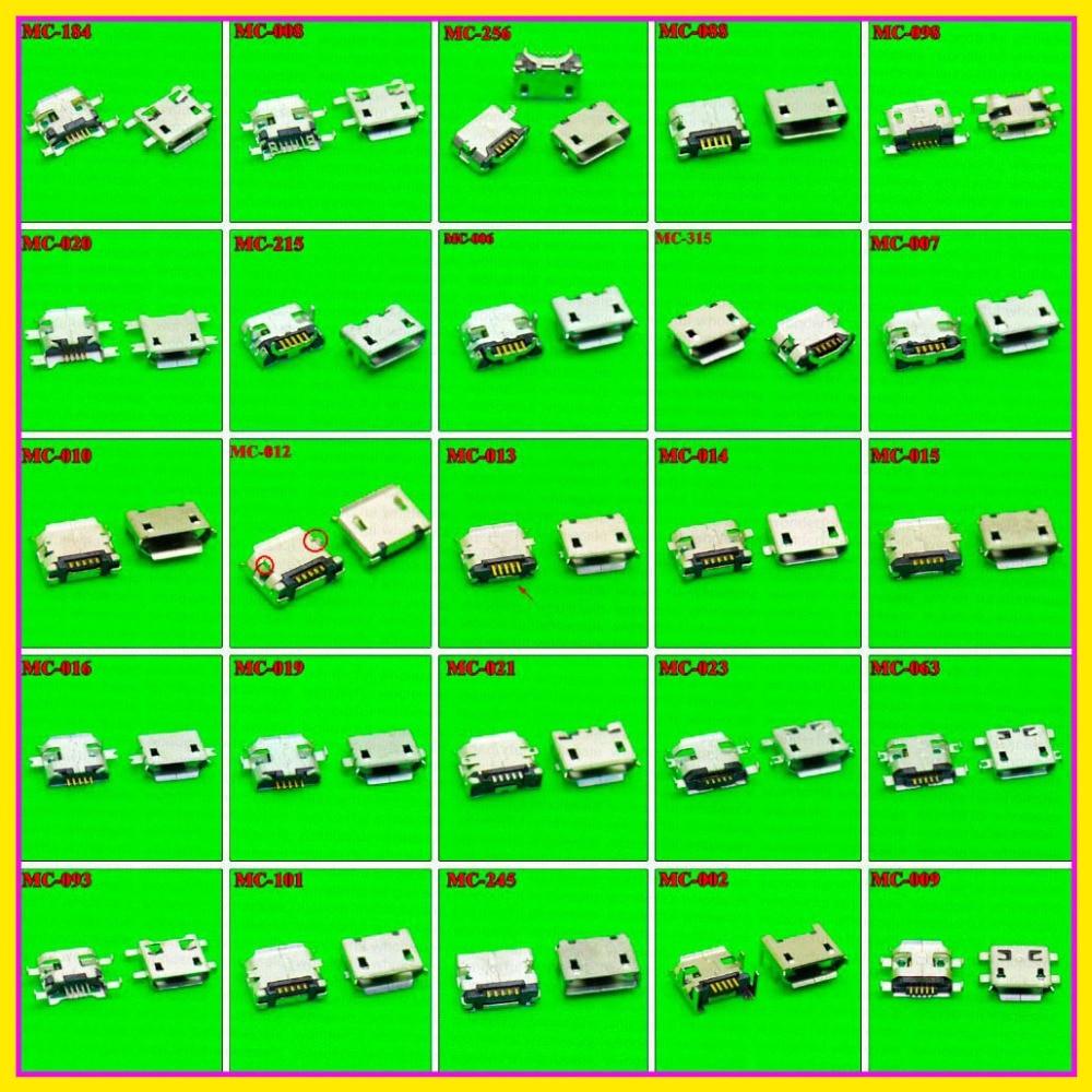 25 modelos 250 pcs-1000 pcs Micro USB jack 5 P, 5-pin Micro USB Conector Micro USB Jack Carregar porta de soquete para PAD tablet móvel