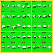 25 models 250 pcs 1000 pcs 마이크로 usb 잭 5 p, 5 핀 마이크로 usb 커넥터 마이크로 usb 잭 패드 태블릿 모바일에 대 한 포트 소켓 충전