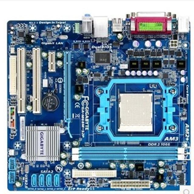 Carte mère pour Gigabyte GA M68M S2P, DDR2, 8 go de prise AM2/AM2 +/AM3 M68M S2P, carte mère système carte graphique intégrée