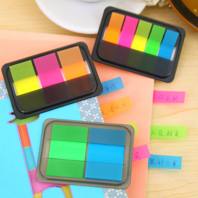 Fluorescence Colour Self Adhesive Memo Pad Sticky Notes Bookmark Point It Marker Memo Sticker Paper Office School Stationery