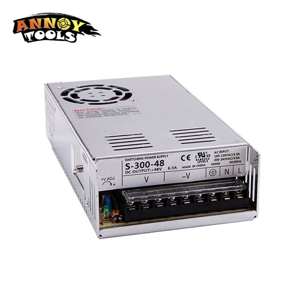 US $29 8 |Free Shipping 48V 300W 6 25A Adjustable Smps Power Supply 48V  Transformer 220v 110v AC to DC 48V For CNC engraving machine-in Switching
