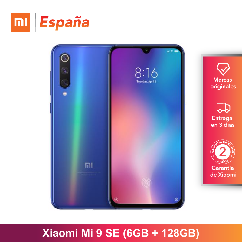 [Versão Global para a Espanha] Xiao mi mi 9 SE (Memoria interna de 128 GB, RAM de 6 GB, bateria de 3070 mAh) Movil
