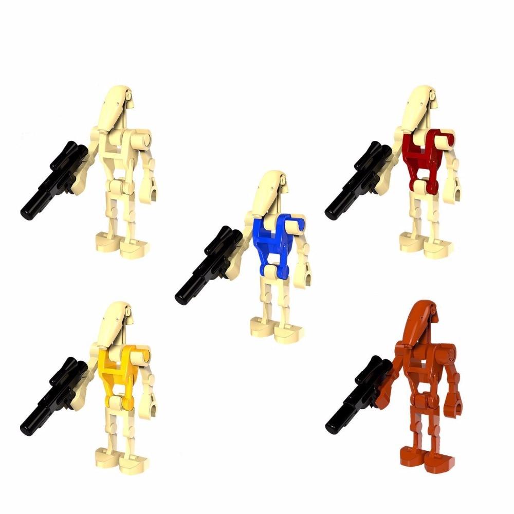 4pcs/lot Star Wars Battle Droid Figure Starwars Model Set Building Blocks Kits Brick Toys Compatible With LegoINGlys Starwars