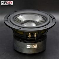 HIFIDIY LIVE HIFI 7.1 inch 6.5 Midbass Woofer speaker Unit 8OHM 120W Casting Aluminum Fram Carbon fiber Loudspeaker T6 182