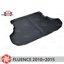 Багажник коврики для Renault Fluence 2010 ~ 2015 багажника коврики Нескользящие полиуретановые грязи защиты багажник стайлинга автомобилей