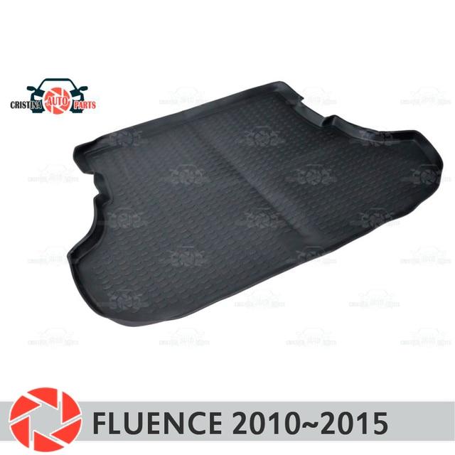 Коврик для багажника Renault Fluence 2010 ~ 2015, коврик для багажника, Нескользящие полиуретановые грязеотталкивающие накладки, для интерьера багажника, для стайлинга автомобиля