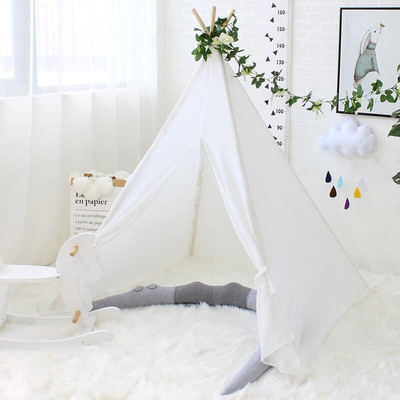 Tente pour enfants Portable pliante Tipi tente jeu Playhouse pour enfants matériau doux respirant princesse château bébé cabine Tipi