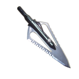 Image 2 - 3 uds punta de flecha de caza de acero de 100gr punta de flecha de punta ancha puntas de tiro compuesto de ballesta cabeza de arco recurvo con 1 caja