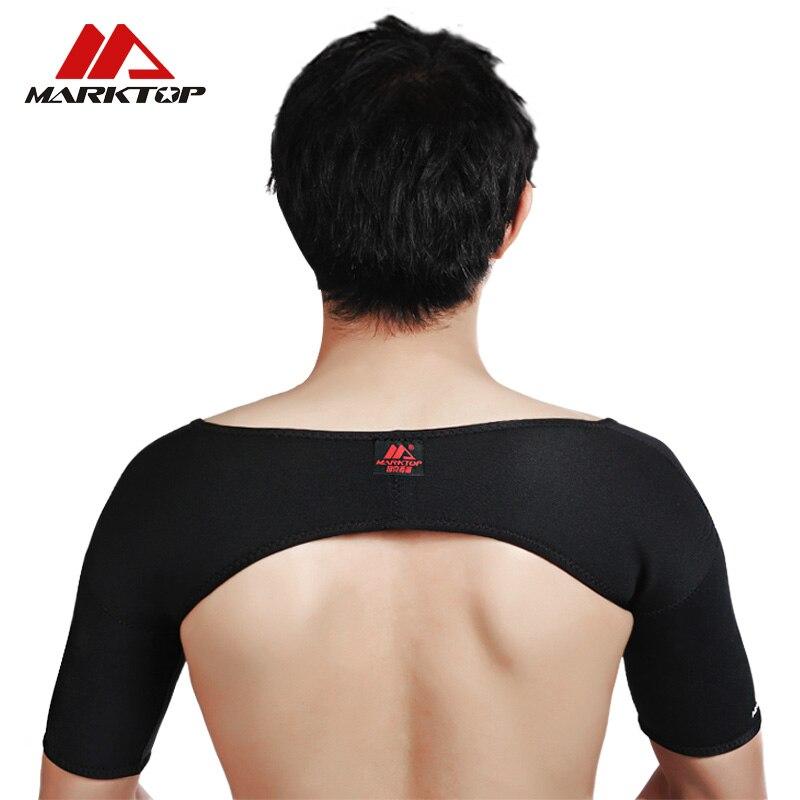 Marktop Respirant Épaule Protection Élastique Bandage D'épaule Soutient Le Sport Bande Double Épaule Protecteur Réglable M5059