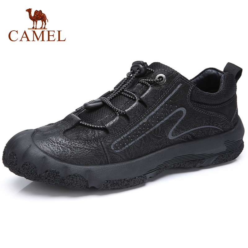 Youth Retro Men Casual Shoes Men s Non slip Work Lightweight Outdoor Genuine Leather Shoes Men
