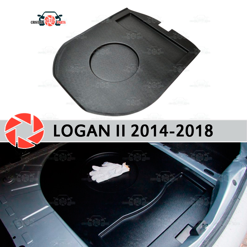 Organizer top position in trunk for Renault Logan 2014-2018 compartment wheel protection cover car styling accessories guard 4pcs 146mm wheel center hub caps rims cover 6 holes car emblem car badge for audi fit for tt 8n0601165a free shipping