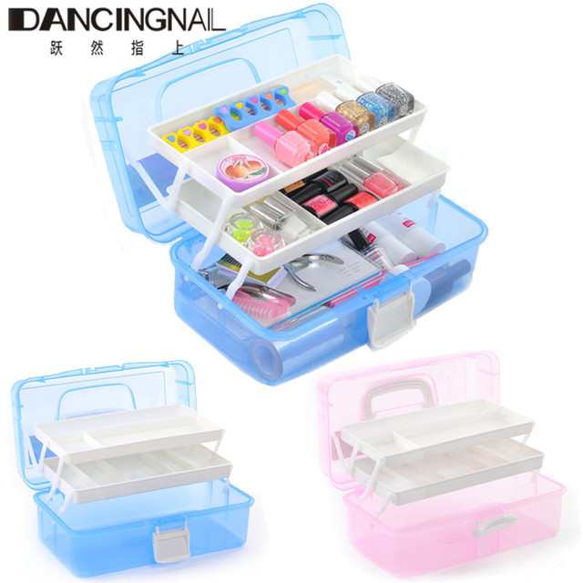 3 Layer Nail Art Tool Storage Box Case Makeup Craft Jewelry Manicure