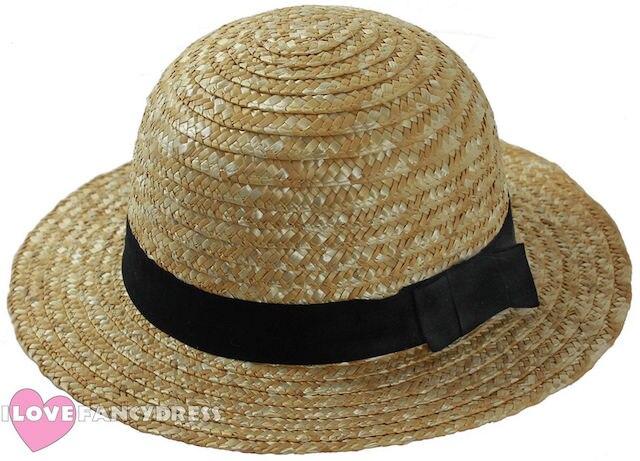 1920/'S ROWING STRAW BOATER HAT FANCY DRESS  BOAT HAT