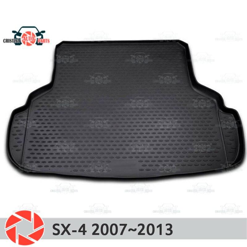 цена на Trunk mat for Kia Rio 2 2005~2010 trunk floor rugs non slip polyurethane dirt protection interior trunk car styling