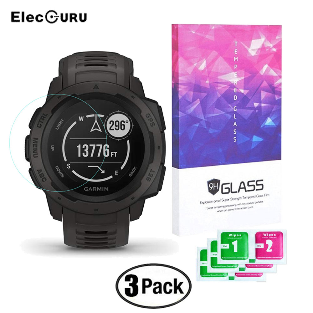 For Garmin Instinct Watch Tempered Glass Screen Protector Explosion Proof Protective Film Guard Anti Scratch Anti-shatter Film