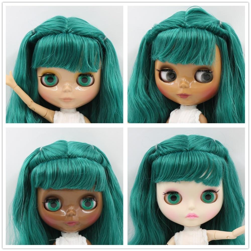 factory blyth doll bjd green hair with braid white/tan/dark/super black skin joint body BL1206 1/6 30cm factory blyth doll green mix black hair with braids bl4302 9016 white skin joint body 1 6 30cm