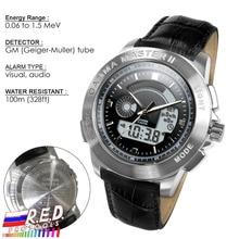 PM1208 bracelet en cuir poignet nucléaire détecter Gamma Master II, montre à rayonnement calibré par Polimaster Ltd. (biélorussie)