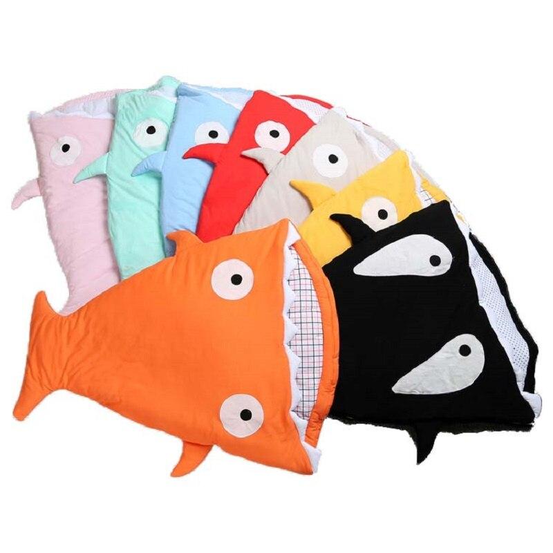 Теплый спальный мешок Мягкий хлопок теплый плед зима сладкий мультфильм Акула младенцев новорожденных детские спальники 7 цветов