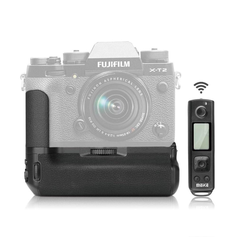 Meike MK XT2 poignée de batterie Pro avec télécommande sans fil 2.4G pour Fujifilm Fuji X T2 comme VPB XT2 Booster d'alimentation Vertical-in Extensions de batterie from Electronique    1