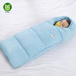 KEYING Envelope Newborns Waterproof Baby Sleeping Bag Flannel Winter Baby Sleepsack Stroller Cart Blanket Swaddle Infant Fleabag
