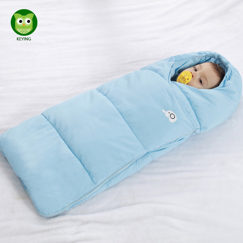 KEYING Envelope Newborns Waterproof Baby Sleeping Bag Flannel Winter Baby Sleepsack Stroller Cart Blanket Swaddle Infant Fleabag
