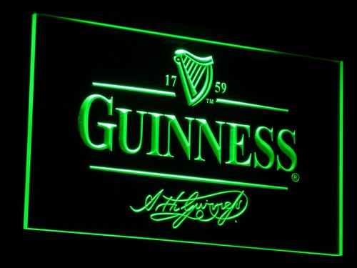 a057 Guinness Alec Arth Beer Bar Club Light Signs