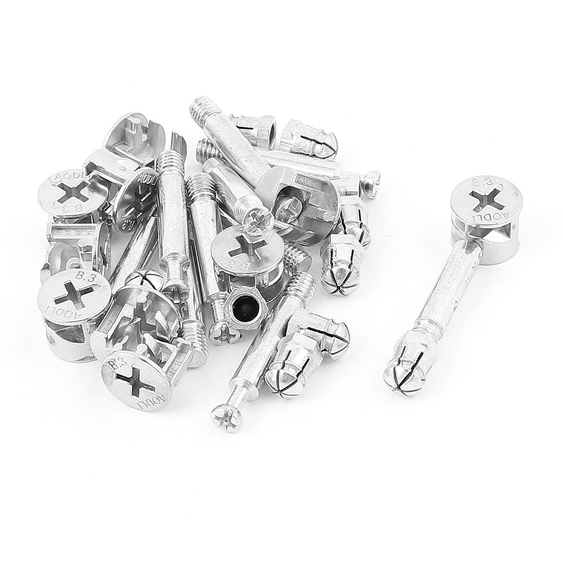 UXCELL Furniture Cabinet Fixing Screw Locking Cam Bolt Nut Fitting 10 Sets For Panel Office Connecting Of Your Panel Furniture