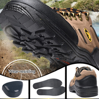 Men's safety shoes farm work travelling hiking shoes anti puncture anti smashing work shoes anti slip outside shoes