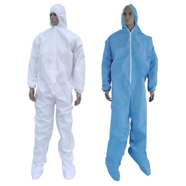 2Suits Disposable Waterproof Oil-Resistant Work Safety Clothing For Spary Painting Decorating Clothes Overall Suit L/XL/XXL/XXXL