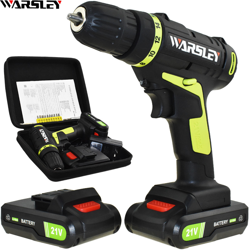 21v Electric Screwdriver Power Tools Electric Drill ...