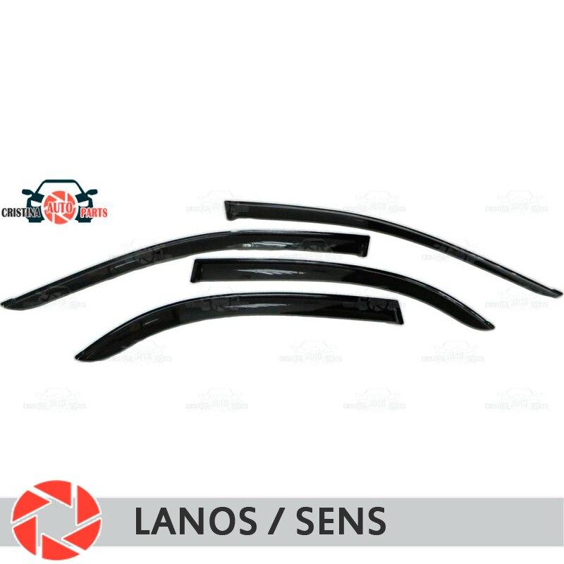 Déflecteur de fenêtre pour Chevrolet Lanos ZAZ Sens déflecteur de pluie protection contre la saleté style de voiture accessoires de décoration moulage