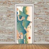 Landscape Door Post Tilting Small Villa Upside Down Pattern Door Post Wall Decoration Support Custom