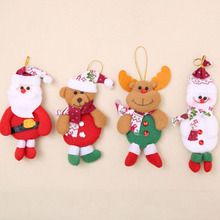 2017 New Arrival Chrismas Tree Decorations For Home Santa claus Snowman Christmas Gifts Ornaments Supplies Pendant(China)