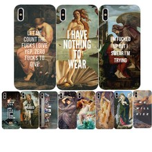 art painting Birth of Venus Soft TPU Phone Case For iPhone 7 Plus 6 6s  5 11 11PRO MAX SE X John William Waterhouse Cover