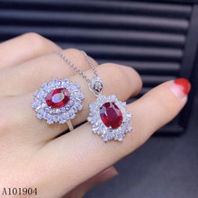 KJJEAXCMY boutique jewelry 925 sterling silver inlaid natural ruby female ring pendant necklace set support detection kjjeaxcmy fine jewelry 925 sterling silver inlaid natural opal female ring pendant set classic support detection