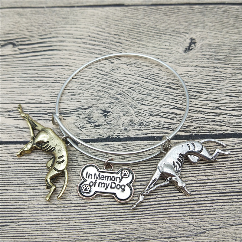 Trendy New Italian Greyhound Bangles Cute Italian Greyhound Dog Bangles Bracelets Fashion Animal Pet Jewellery