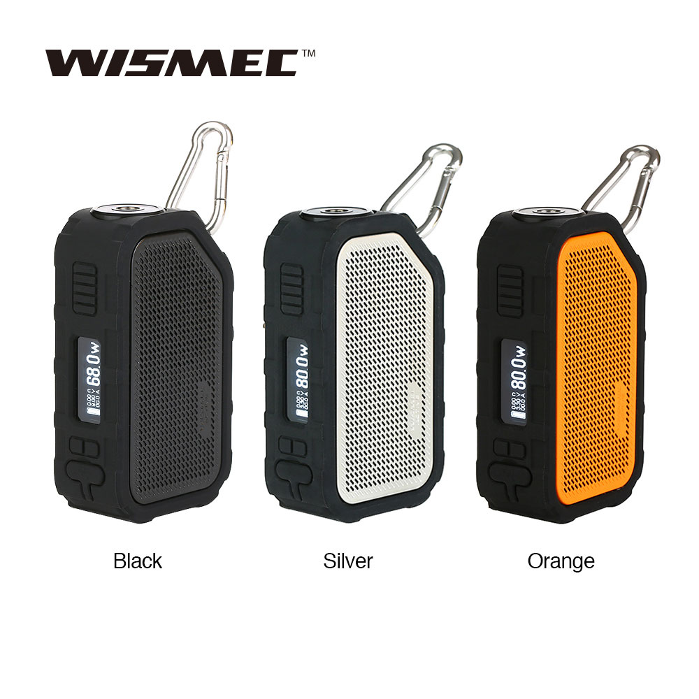 Newest WISMEC Active Bluetooth Music TC Box MOD 2100mAh with 80W Max Output & High Quality Speaker for Playing Music Ecig TC Mod original wismec active bluetooth music tc box mod with 2100mah built in battery