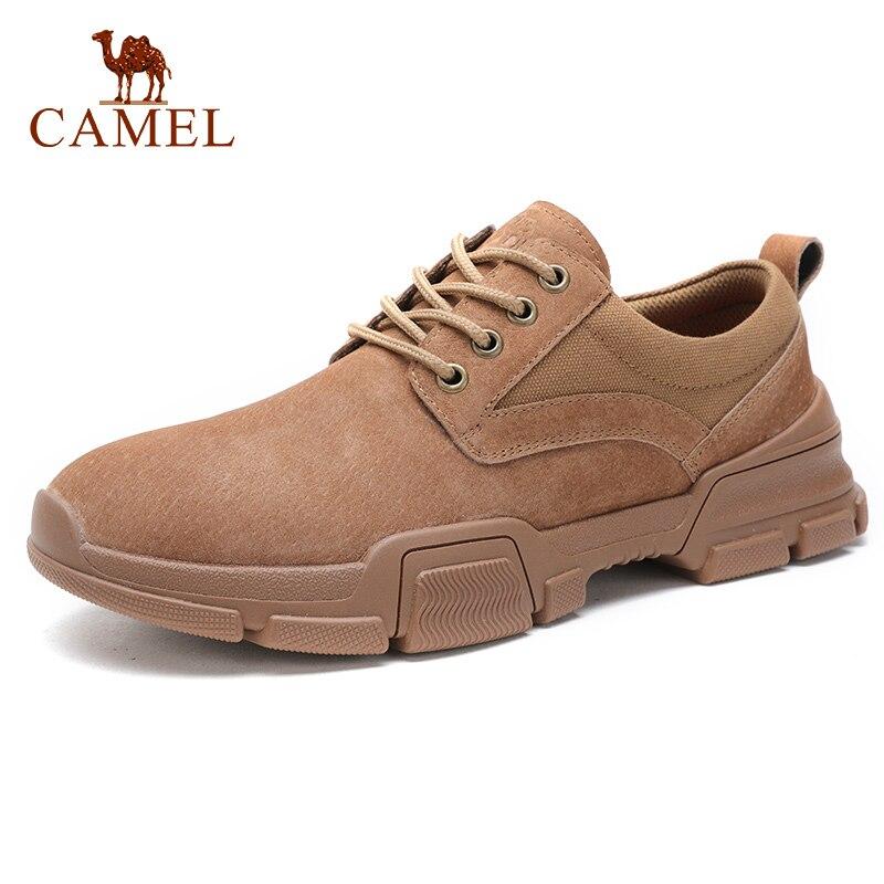الجمل جديد حذاء رجالي الشباب الأزياء عارضة عدم الانزلاق في الهواء الطلق جلد طبيعي جلد الرجعية انكلترا الأحذية رجل الشقق-في أحذية رجالية غير رسمية من أحذية على  مجموعة 1