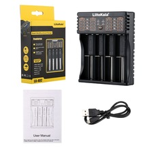 LiitoKala Lii 402 18650 Battery Charger For 26650 16340 RCR123 14500  LiFePO4 1.2V Ni MH Ni Cd Rechareable Battery lii402