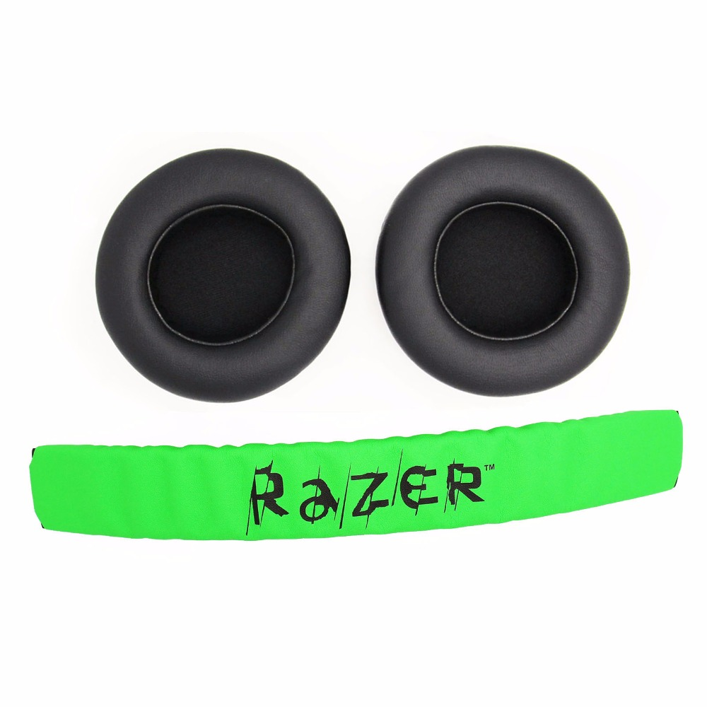 High Quolity Replacement Headband Cushion Pad & Ear Pads Cushions Cover For Razer Kraken 7.1 Pro Gaming Headphones Headsets ...