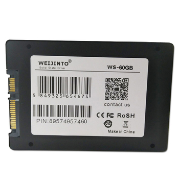 SSD 60GB 64GB SATA3 2.5 inch Hard Disk Disc Internal Solid State Drive HD HDD& 12.7mm SATA 3.0 2nd SSD Caddy for Laptop WEIJINTO