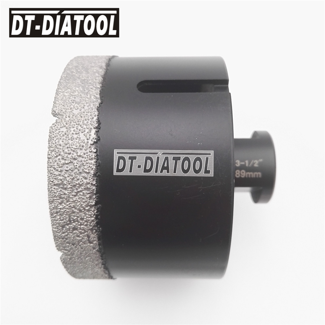 Diameter 3-1/2 89MM Vacuum brazed diamond Dry drilling core bits5/8-11 thread Drill bits hole saw for tile granite marble hole saw 2diamond core drill bits for drilling for stone and concrete dry drill bit
