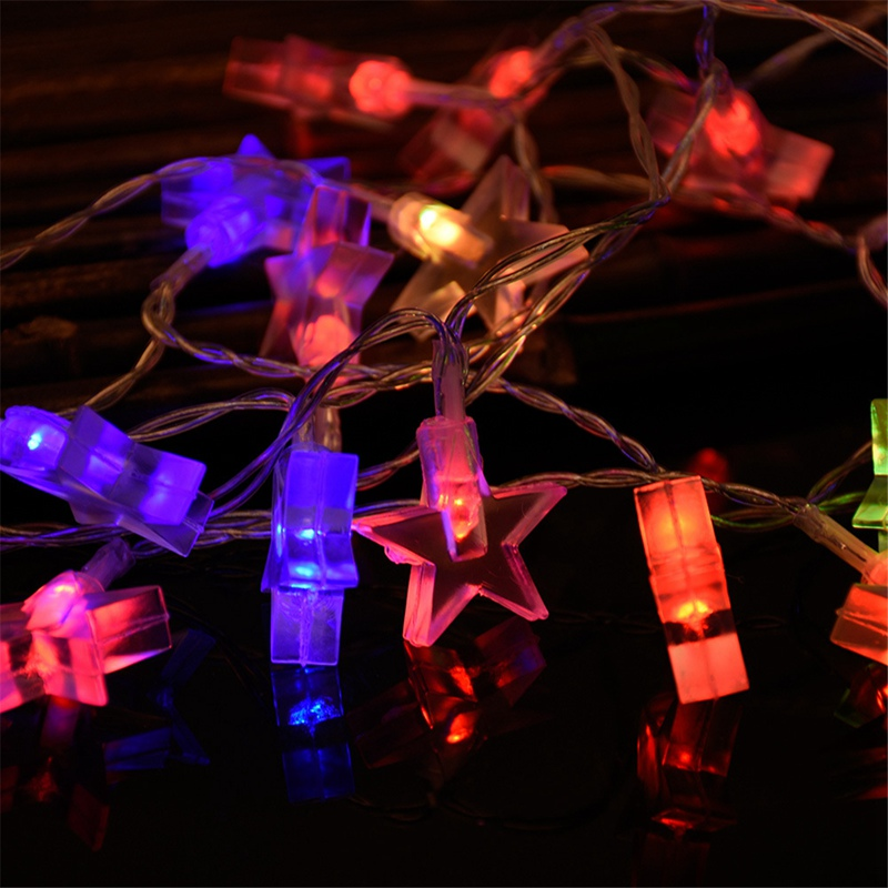 non waterproof 30 led string light christmas star led fairy light holiday light wedding party home outdoor decoration in lighting strings from lights