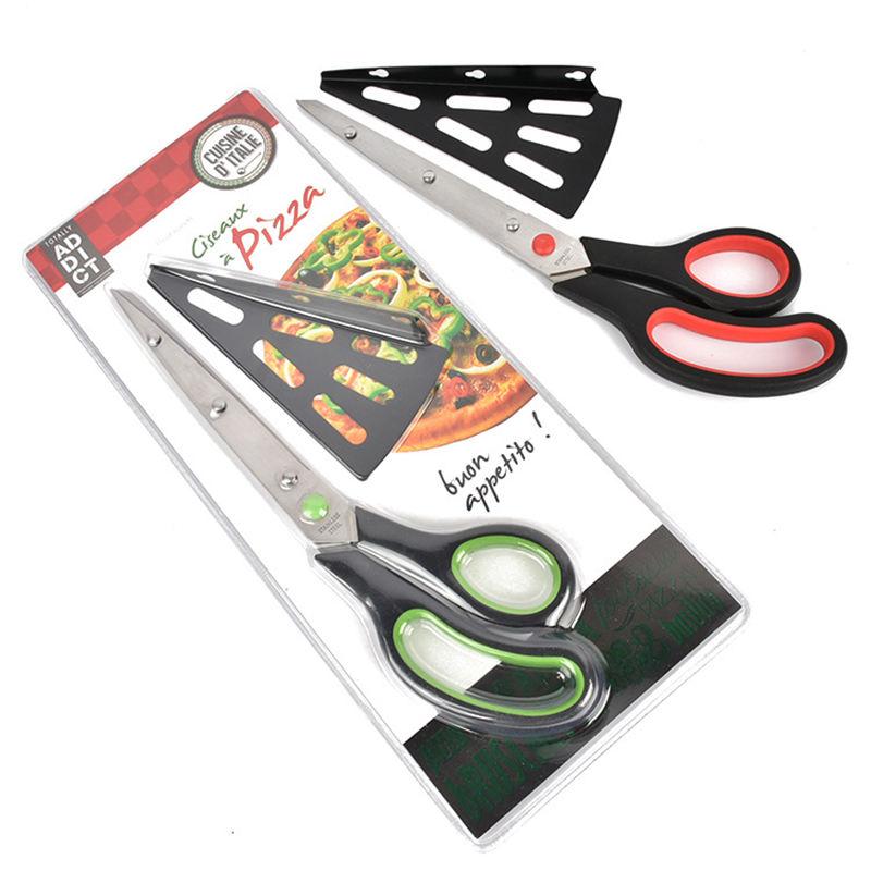Urijk New Stainless Steel Pizza Scissors Multifunctional Slice 2-in1 Cutter Server Kitchen...