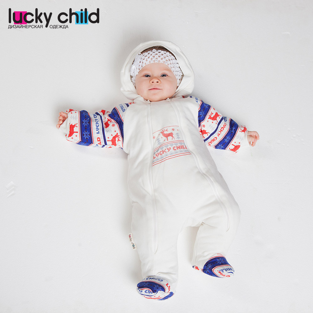 Jumpsuit Lucky Child for girls and boys 10-71 Children's clothes kids Rompers for baby rompers lucky child for girls 0 28 romper baby jumpsuit kids overalls children clothes