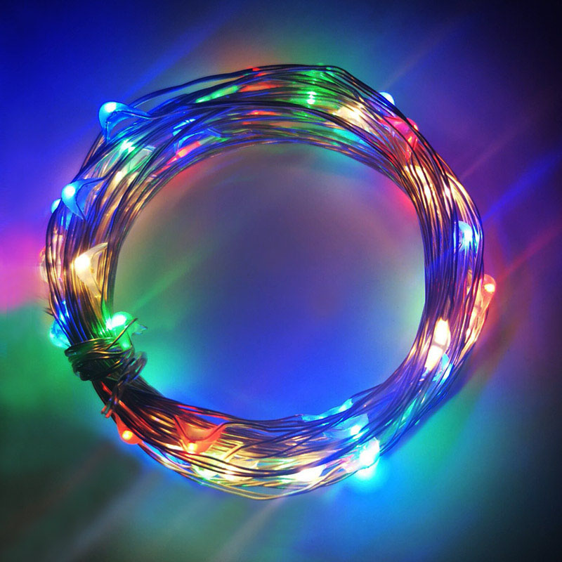 LED String Light Fairy light Battery waterproof Silver Wire Christmas Halloween USB Xmas Decoration Romantic lights 1 2 3 5 10M in LED String from Lights Lighting