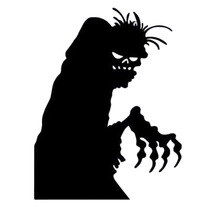 1/Pc Halloween Decor waterproof PVC Black Horro Devil Wall Stickers Home Decor Props Supplies for Sitting room